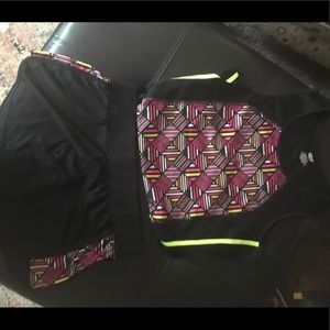 Two piece athletic shorts set